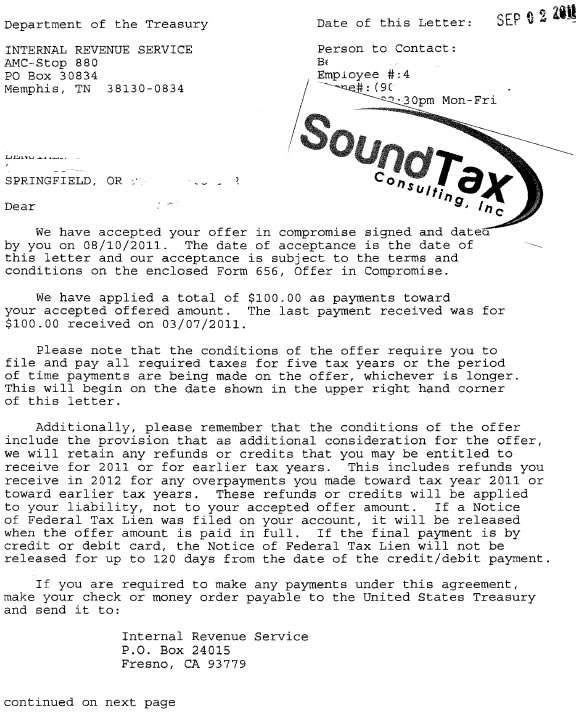 Sound Tax Consulting Tax Problems